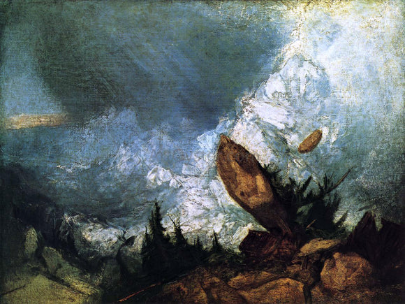 Joseph William Turner The Fall of an Avalanche in the Grisons - Canvas Art Print