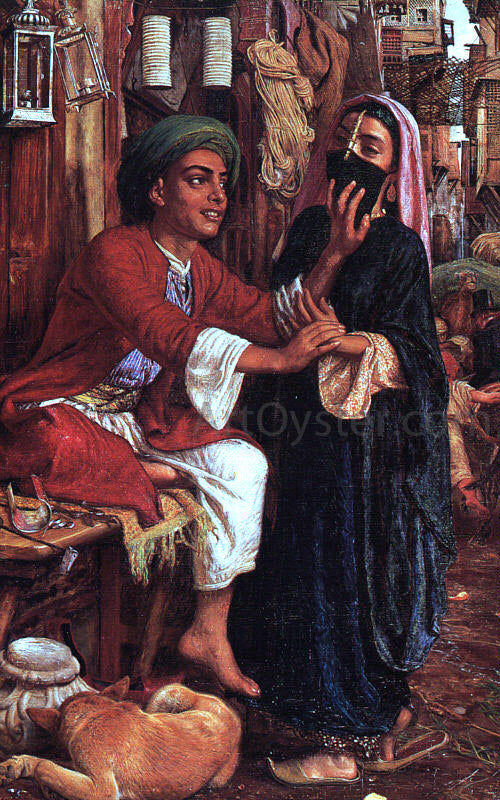 William Holman Hunt The Lantern Maker's Courtship - Canvas Art Print