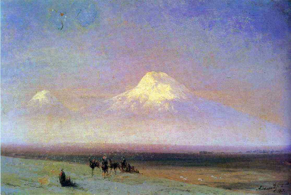 Ivan Constantinovich Aivazovsky The mountain Ararat - Canvas Art Print