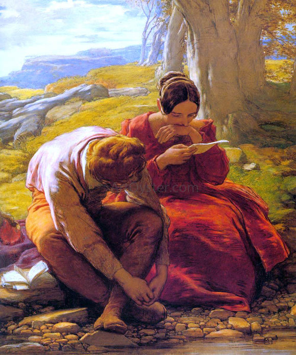 William Mulready The Sonnet - Canvas Art Print