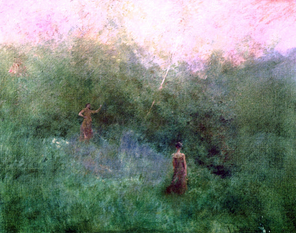 Thomas Wilmer Dewing The White Birch - Canvas Art Print