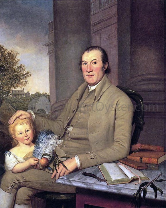 Charles Willson Peale William Smith and His Grandson - Canvas Art Print
