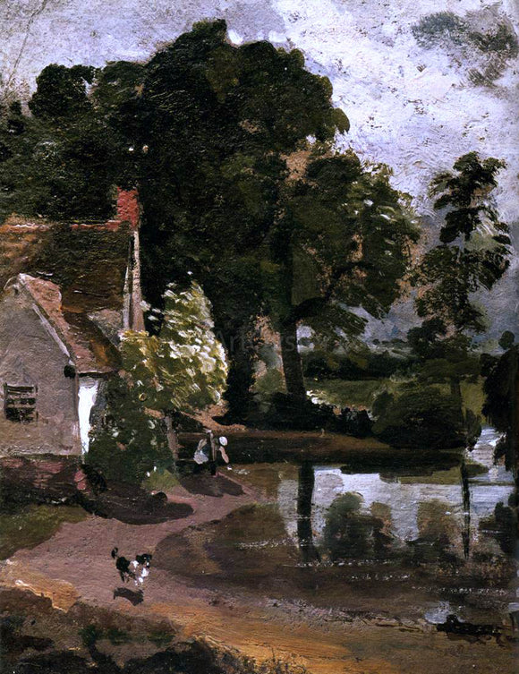 John Constable Willy Lot's House - Canvas Art Print
