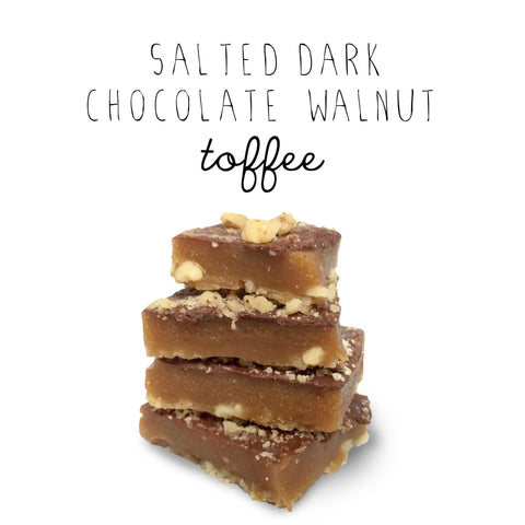 Salted Dark Chocolate Walnut Toffee