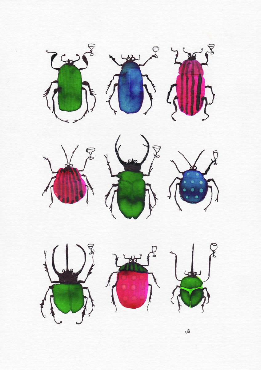 beetles with cocktails