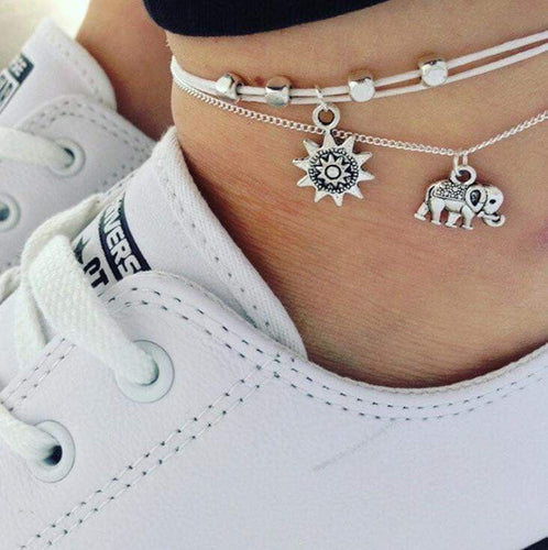 2pcs Elephant Sun Anklets - Tab Trends