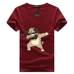 Dabbing Pug Premium T-Shirt  | Mens Cool Shirts  Tab4Trends