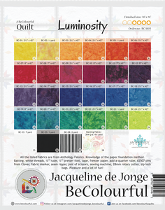 Luminosity Quilt Pattern (BeColourful)