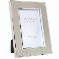 Grey Enamel Frame with Silver Edging
