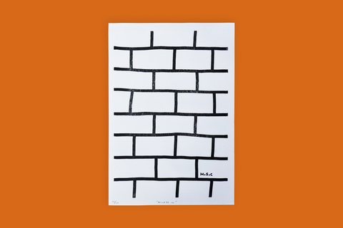 'Bricked In' Risograph Print