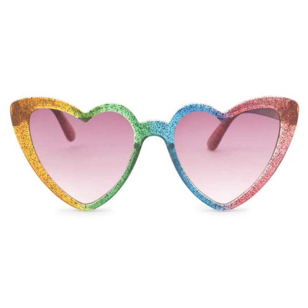 rainbow heart sunglasses front