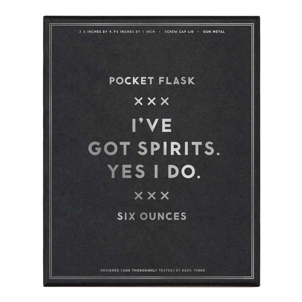 i've got spirits flask packaging