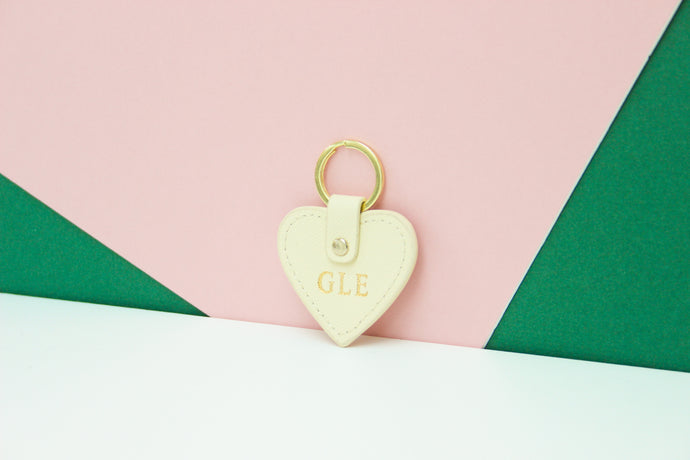 Travel Key Ring - Personalised Cream