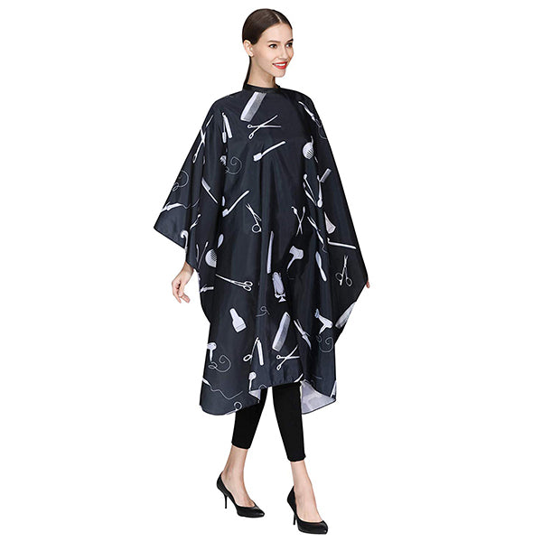 Barber Hair Cutting Cape with Snaps