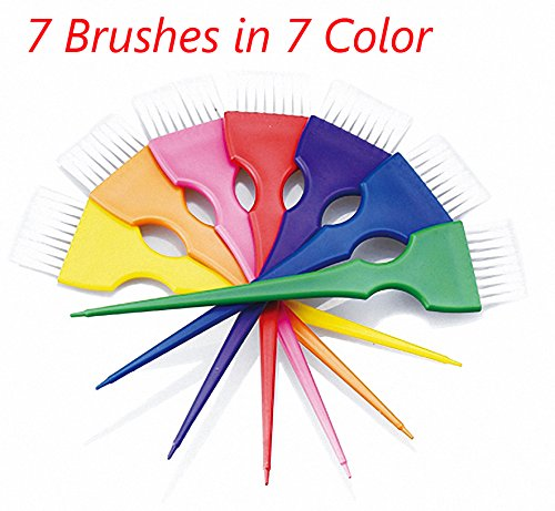 Small Hair Coloring Dye Mixing Tint Bowls and Brush Kit
