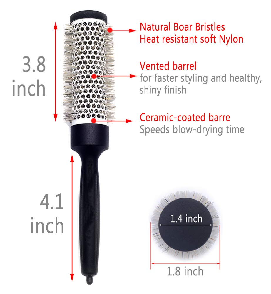 Ceramic Round Barrel Brush for Women Blow Drying