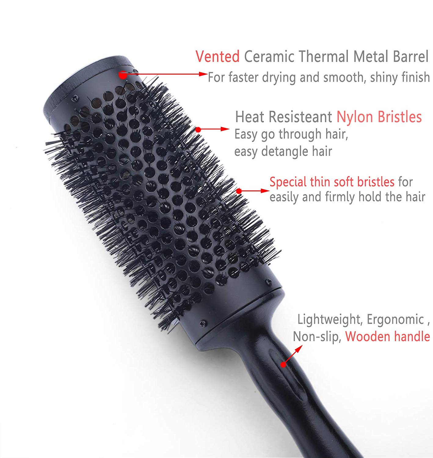 Ceramic Round Brush for Women Blow Drying