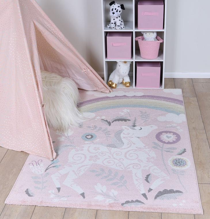 Nova Kids Unicorn Rug Pink