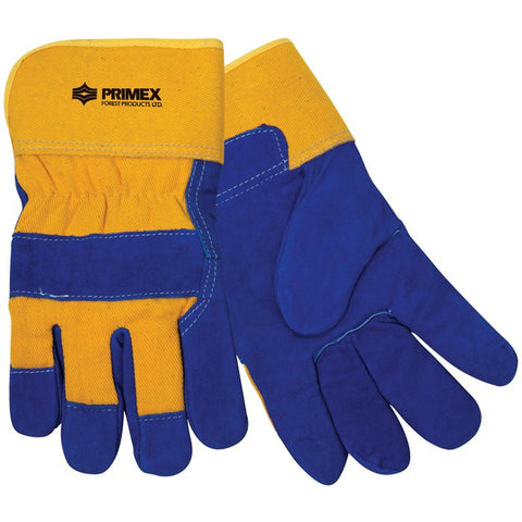 Insulated Cowhide Glove - Blue/Yellow