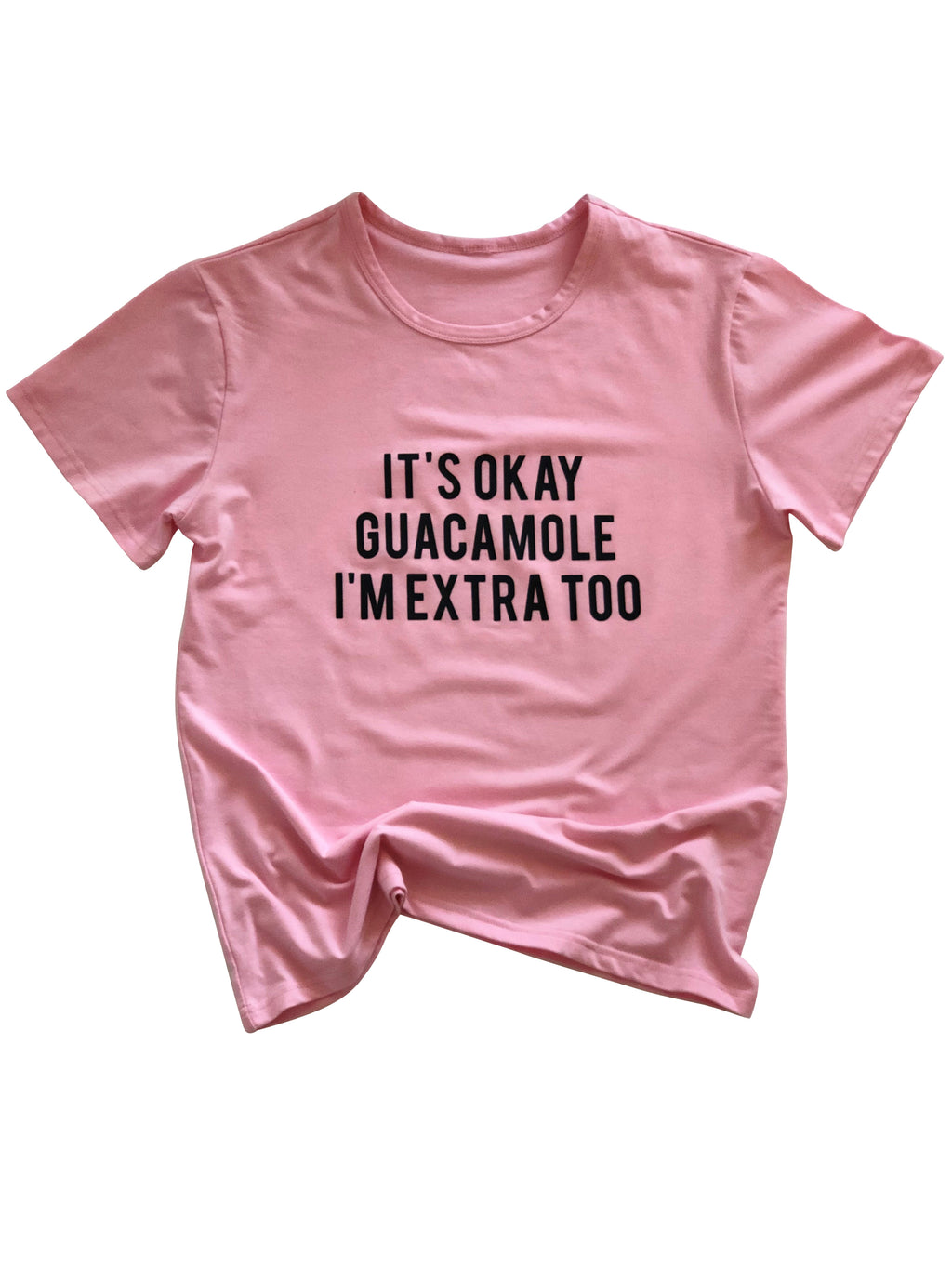 Extra Guac Tee in Pink