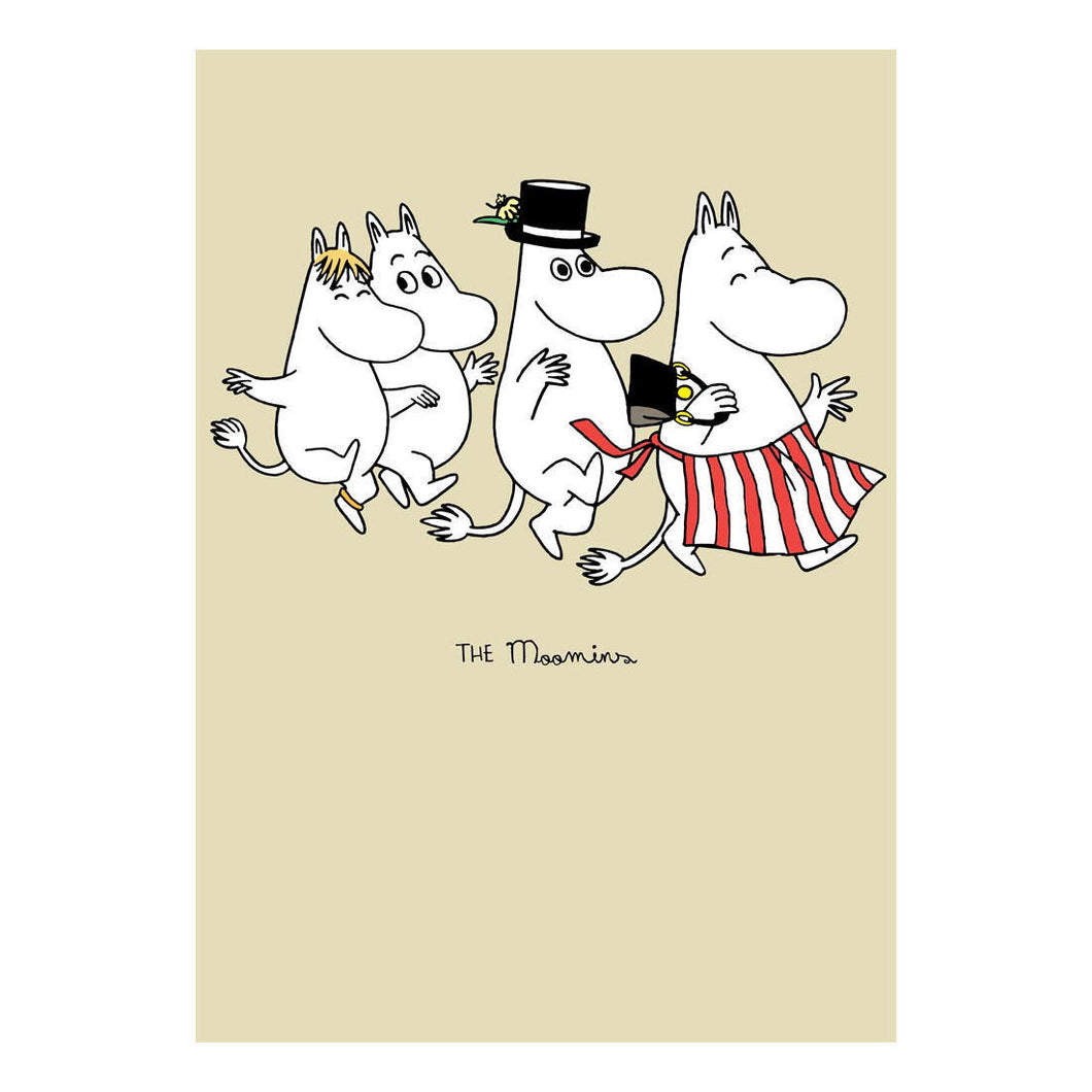 Moomin Family Skipping Greeting Card