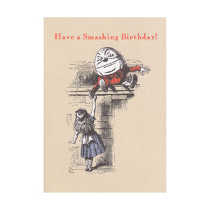 "Alice in Wonderland ""Have a Smashing Birthday!"" Greeting Card"