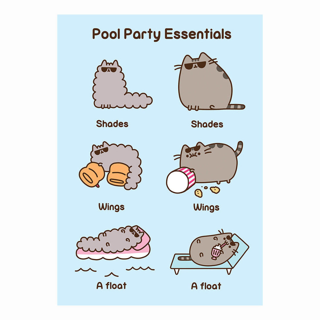 Pusheen Party Pool Essentials Greeting Card