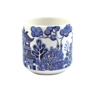Blue Willow Pattern Ceramic Egg Cups