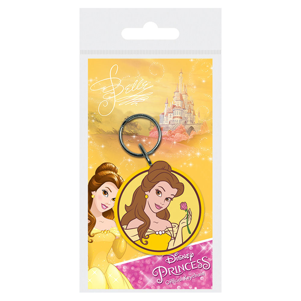 Disney Princesses Belle Beauty & The Beast PVC Keyring