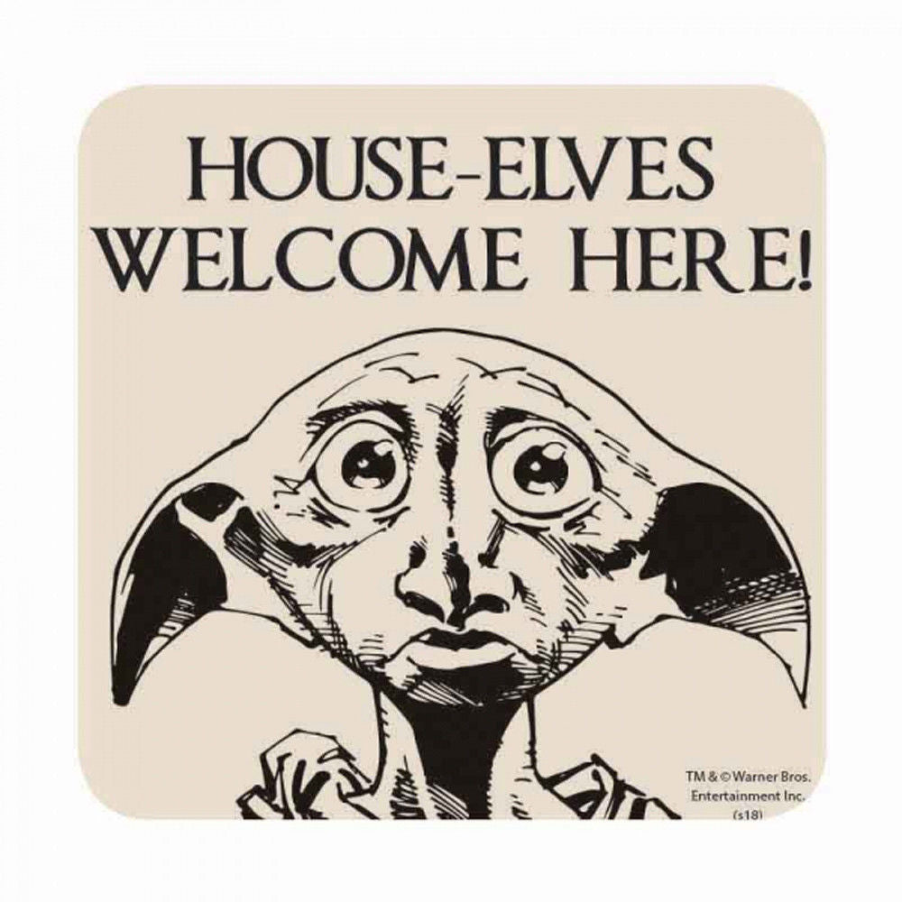 Harry Potter House-Elves Welcome Here! Coaster