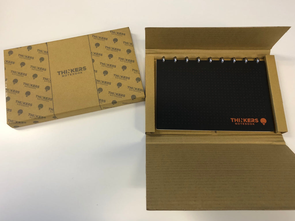 THINKERS Notebook in shipping box