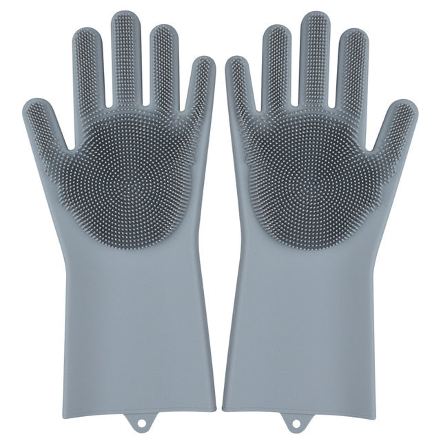 Kitchen Silicone Cleaning Magic Dish Washing Gloves
