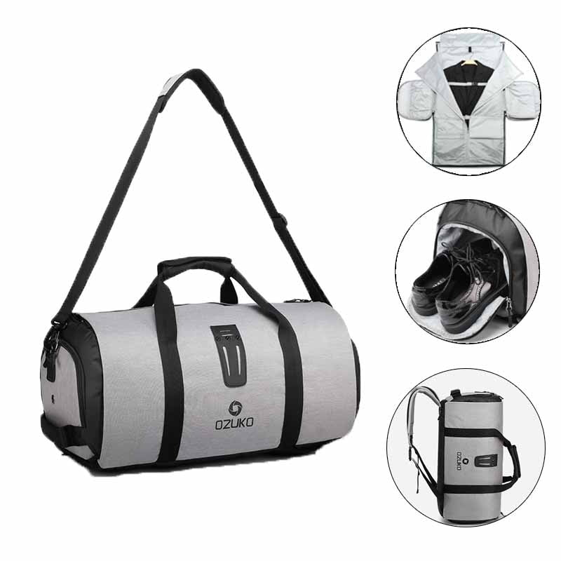 Men Travel Garment Duffel Bag Hanging Multiple Pockets