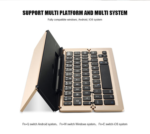 Fold able and Portable Bluetooth 3.0 Wireless  Mini Keyboard