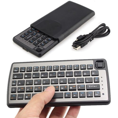 Rechargable Handheld Remote Control Wireless Mini Keyboard with Touchpad