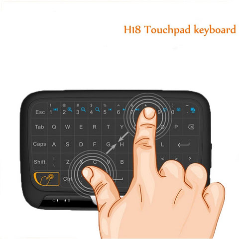 H18 MINI Keyboard 2.4GHZ Wireless Full Touchpad Controller