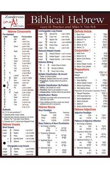 Biblical Hebrew Laminated Sheet 9780310262954