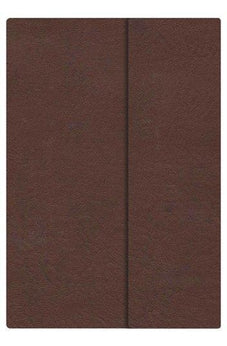 HCSB Large Print Compact Bible, Chocolate LeatherTouch with Magnetic Flap 9781433603877