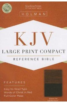 KJV Large Print Compact Reference Bible, Brown/Tan LeatherTouch 9781433605840