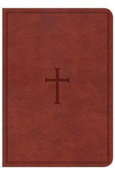 CSB Large Print Compact Reference Bible, Brown LeatherTouch, Indexed 9781433647369