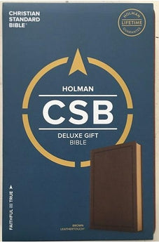 CSB Deluxe Gift Bible, Brown LeatherTouch 9781462749324