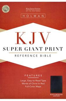 Image of KJV Super Giant Print Reference Bible (Black Simulated Leather) 9781558196346