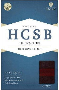 HCSB Ultrathin Reference Bible, Saddle Brown LeatherTouch 9781586407407
