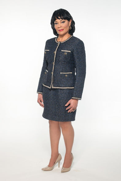 Viola Blu Midnight Skirt Suit - Bryla J Couture