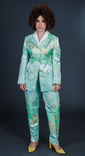 Splendid Light Green/Yellow Pants Suit