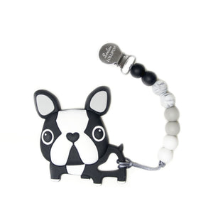 Loulou Lollipop Boston Terrier - Black with Holder Set