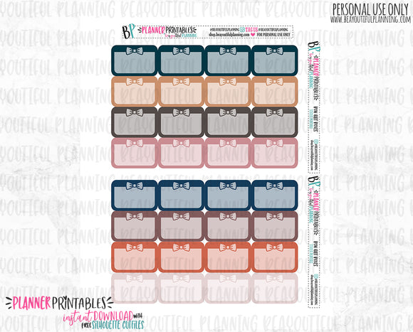 Bow Half Boxes Functional Printable *Additional Colors Available*