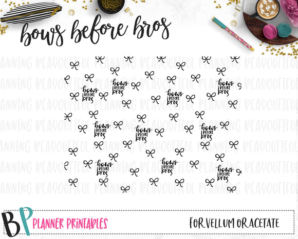 Bows before Bros Printable Paper