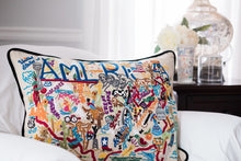 Load image into Gallery viewer, America Hand-Embroidered Pillow - catstudio