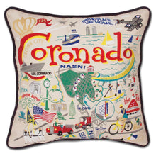Load image into Gallery viewer, Coronado Embroidered Pillow - catstudio